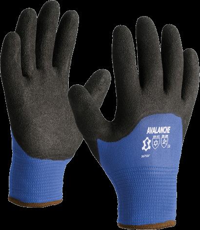 Luva de nylon azul c/ revestimento de areia nitrílica 5075SF