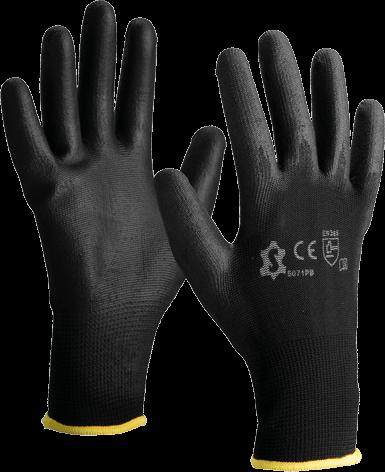Luva de nylon c/ dedos e palma revestidos de PU 5071PB