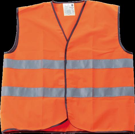 Colete de alta visibilidade laranja p111