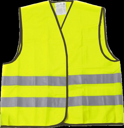 Colete de alta visibilidade amarelo